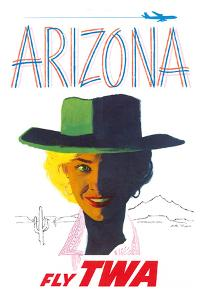 Arizona - Trans World Airlines Fly TWA - Cowgirl by Austin Briggs