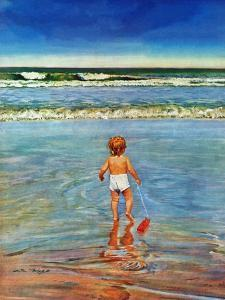 """""""Baby at the Beach,"""" July 23, 1949 by Austin Briggs"""
