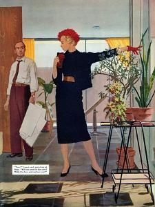 "The Brute Next Door  - Saturday Evening Post ""Leading Ladies"", October 9, 1954 pg.22 by Austin Briggs"