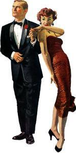 """The Lost Hour - Saturday Evening Post """"Men at the Top"""", March 19, 1955 pg.20 by Austin Briggs"""