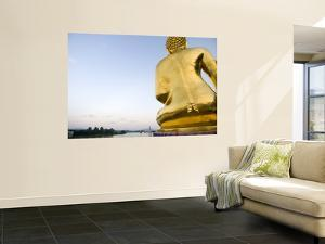 Buddha Statue at Sop Ruak, the 'Golden Triangle' on the Mekong River by Austin Bush