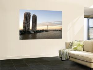 Condominiums Towering over the Chao Phraya River by Austin Bush