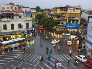 Traffic Intersection, Downtown Hanoi by Austin Bush