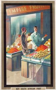 Buy South African Fruit, from the Series 'Empire Buying Makes Busy Factories', 1930 by Austin Cooper
