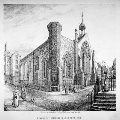 Austin Friars, City of London, 1823-Charles Burton-Giclee Print