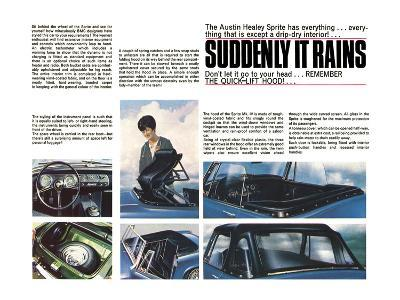 Austin Healey-Suddenly it Rains--Art Print