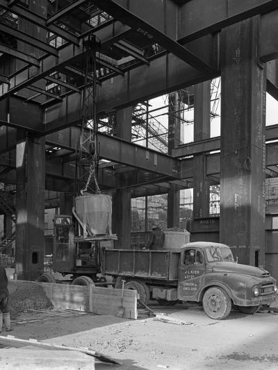 Austin Lorry on a Construction Site, Leeds, West Yorkshire, 1959-Michael Walters-Photographic Print