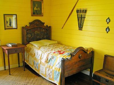 Austin's Bedroom, Villa Vailima, Apia, Samoa--Photographic Print