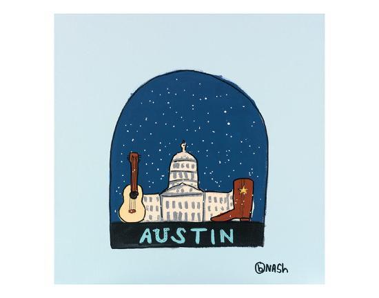 Austin Snow Globe-Brian Nash-Art Print