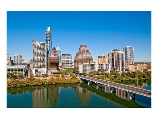 Austin Texas Downtown Skyline--Art Print