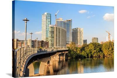 Austin Texas Downtown Skyline--Stretched Canvas Print