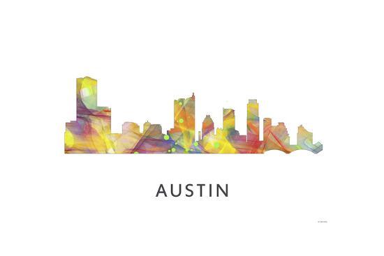 Austin Texas Skyline-Marlene Watson-Giclee Print