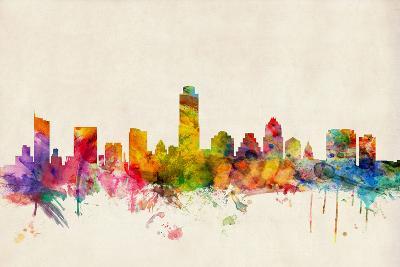 Austin Texas Skyline-Michael Tompsett-Art Print