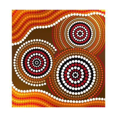 Australia Aboriginal Art-Irina Solatges-Art Print