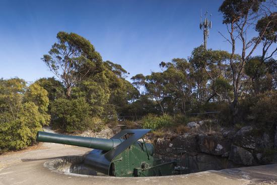 Australia, Albany, Princess Royal Fort, Mt Adelaide, Artillery-Walter Bibikow-Photographic Print