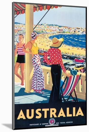 Australia Beach c.1929-Percy Trompf-Mounted Giclee Print