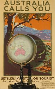 Australia Calls You, Settler, Investor or Tourist Australian Travel Poster