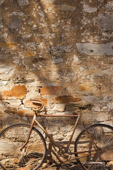 Australia, Clare Valley, Sevenhill, Old Bicycle-Walter Bibikow-Photographic Print