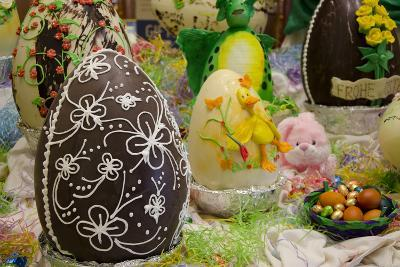 Australia. Easter Display of Decorated Chocolate Eggs and Candy-Cindy Miller Hopkins-Photographic Print