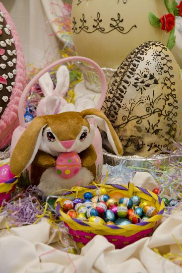 Australia. Easter Display of Holiday Chocolate Eggs and Easter Bunny-Cindy Miller Hopkins-Photographic Print