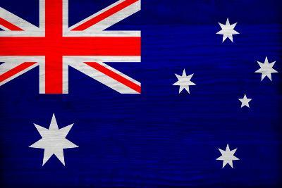 Australia Flag Design with Wood Patterning - Flags of the World Series-Philippe Hugonnard-Art Print