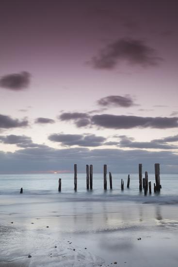 Australia, Fleurieu Peninsula, Port Willunga, Old Jetty, Dusk-Walter Bibikow-Photographic Print