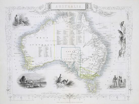 Australia Map 1850.Australia From A Series Of World Maps C 1850 Giclee Print By John
