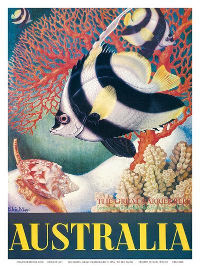 Australia, Great Barrier Reef c.1956-Eileen Mayo-Art Print