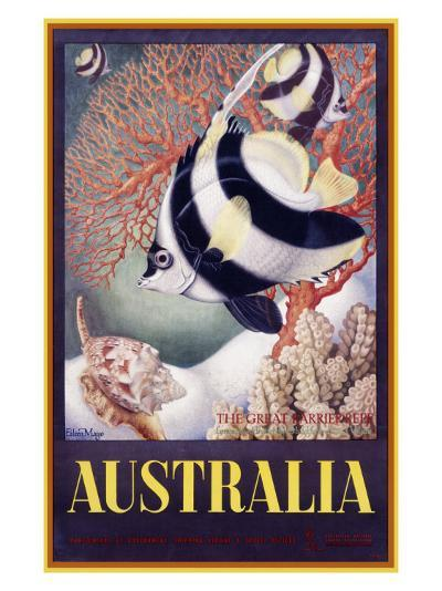 Australia Great Barrier Reef-Mayo-Giclee Print