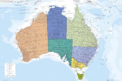 AUSTRALIA MAP--Poster