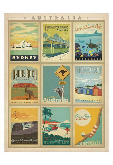 Australia Multi Print-Anderson Design Group-Art Print