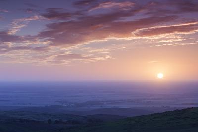Australia, Murray River Valley, Sedan, Sunrise-Walter Bibikow-Photographic Print