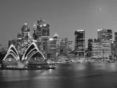 Australia, New South Wales, Sydney, Sydney Opera House, City Skyline at Dusk-Shaun Egan-Photographic Print