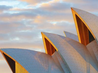 Australia, New South Wales, Sydney, Sydney Opera House, Close-Up at Sunrise-Shaun Egan-Photographic Print
