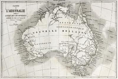 Australia Old Map-marzolino-Art Print