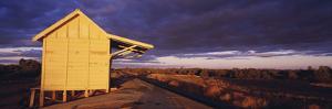 Australia Outback Railway Station Near Broken Hill