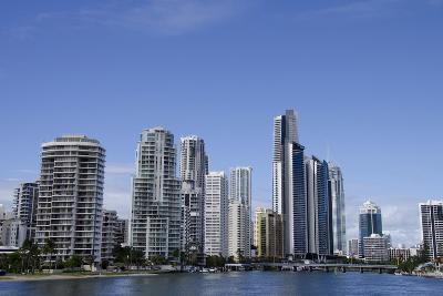 Australia, Queensland, Gold Coast. Waterfront View of Surfers Paradise-Cindy Miller Hopkins-Photographic Print