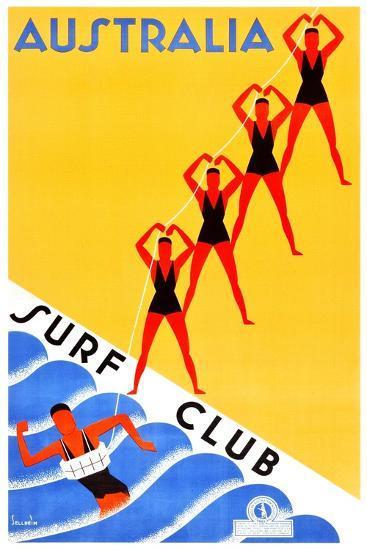 Australia Surf Club-Gert Sellheim-Art Print
