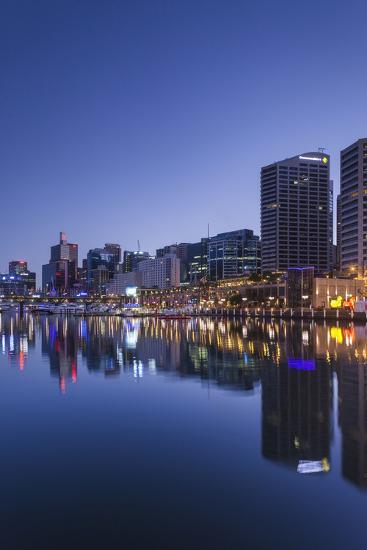 Australia, Sydney, Darling Harbor, Dawn-Walter Bibikow-Photographic Print