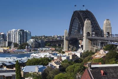 Australia, Sydney Harbor Bridge from Observatory Park-Walter Bibikow-Photographic Print