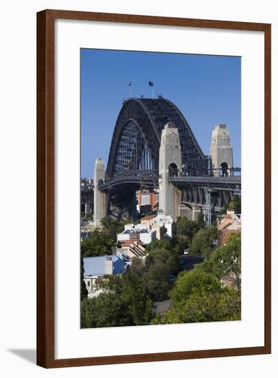 Australia, Sydney Harbor Bridge from Observatory Park-Walter Bibikow-Framed Photographic Print