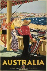 Australia Travel Poster, Beach