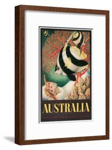 Australia Travel Poster, Great Barrier Reef
