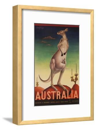 Australia Travel Poster Kanagaroo