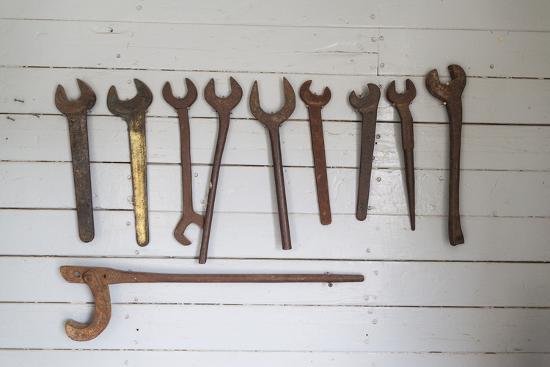 Australia, Victoria, Echuca, Port of Echuca, Riverboat Repair Tools-Walter Bibikow-Photographic Print