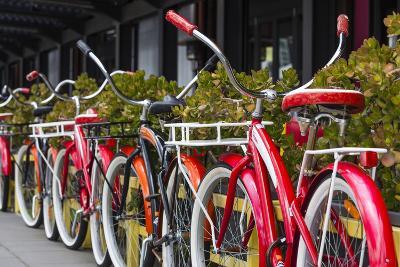 Australia, Victoria, Melbourne, Bicycles Outside Mars and Venus Bar-Walter Bibikow-Photographic Print