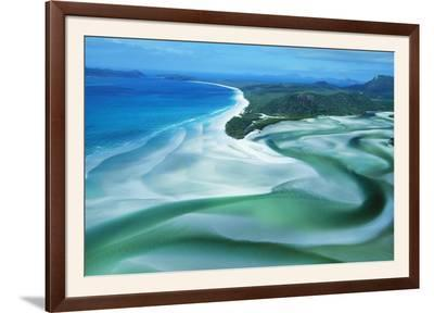 Australia Whitehaven Beach, Whitsunday Island--Framed Photographic Print