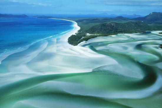 Australia Whitehaven Beach, Whitsunday Island--Photographic Print