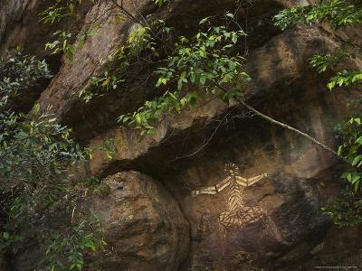 Australian Aboriginal Rock Art on a Rock in Kakadu National Park-Randy Olson-Photographic Print