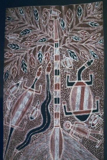 Australian Aborigine bark painting-Unknown-Giclee Print